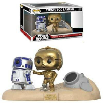 Pack Star Wars 2 Funko POP! Movie Moments Bobble Head Escape Pod Landing 9cm