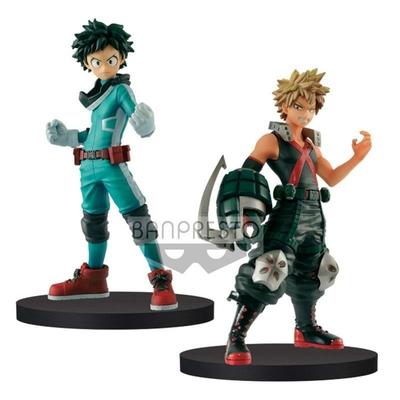 Figurines My Hero Academia Izuki Midoriya & Katsuki Bakugo DXF 15cm