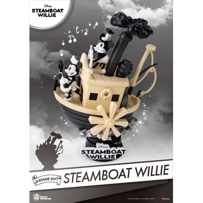Diorama Disney Steamboat Willie D-Stage Mickey & Minnie 15cm