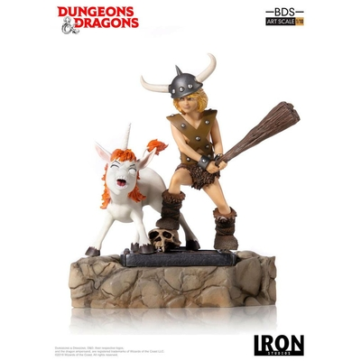 Statuette Dungeons & Dragons Art Scale Bobby The Barbarian & Uni 16cm