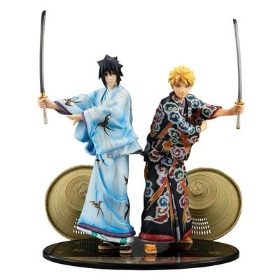 Pack 2 statuettes Naruto  G.E.M. Naruto & Sasuke Kabuki Ver. 23cm