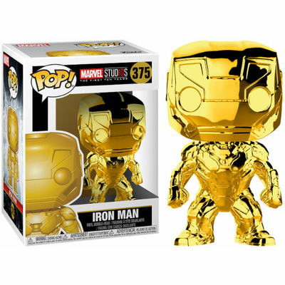 Figurine Marvel Studios 10th Funko POP! Marvel Iron Man Chrome 9cm