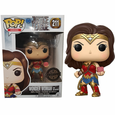 Figurine Justice League Movie Funko POP! Wonder Woman with Mother Box 9cm