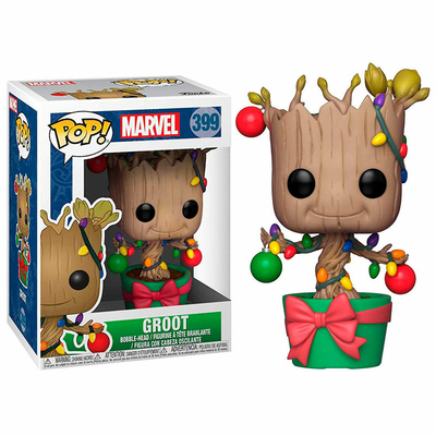 Figurine Marvel Comics Funko POP! Marvel Holiday Bobble Head Groot Lights & Ornaments 9cm