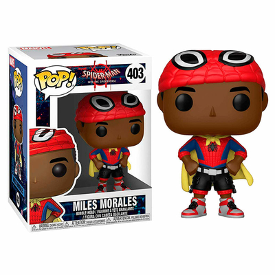Figurine Spider-Man Animated Funko POP! Marvel Bobble Head Miles with Cape 9cm