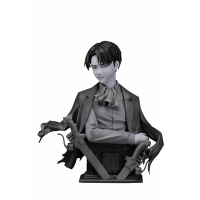 Statuette L'Attaque des Titans Levi Up Figure Gray Ver. 25cm