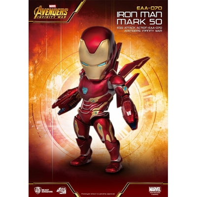 Figurine Avengers Infinity War Egg Attack Iron Man Mark 50 - 16cm