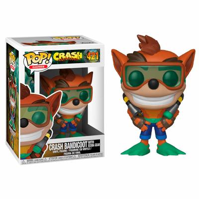 Figurine Crash Bandicoot Funko POP! Scuba Crash 9cm