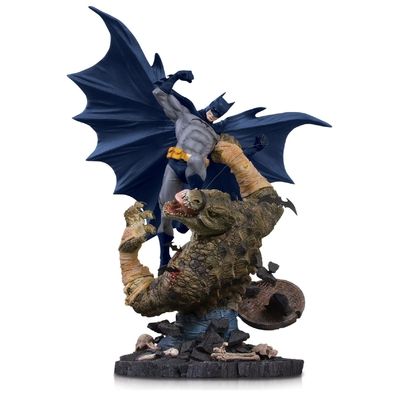 Statuette DC Comics Mini Battle Batman vs. Killer Croc 21cm