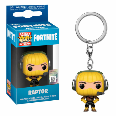Porte-clés Fortnite Pocket POP! Raptor 4cm