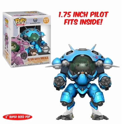 Figurine Overwatch Oversized Funko POP! D.Va & MEKA (Blueberry) 15cm