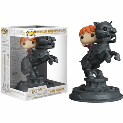 Figurine Harry Potter Funko POP! Movie Moments Ron Riding Chess Piece 21cm