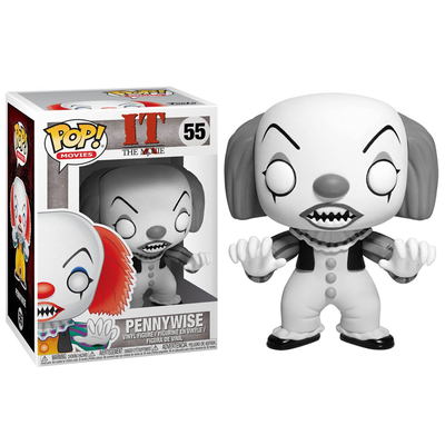 Figurine IT the Movie Funko POP! Pennywise Classic B&W Exclu