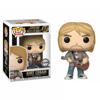 Figurine Kurt Cobain Funko POP! Rocks Kurt Cobain with Sweater Exclu