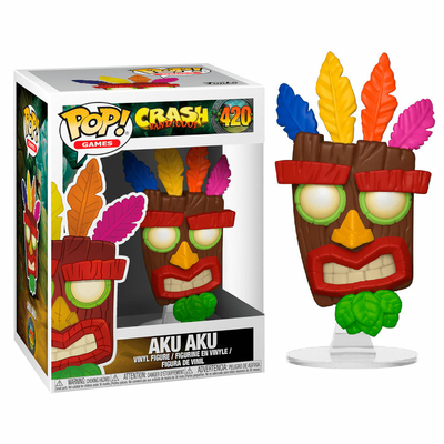 Figurine Crash Bandicoot Funko POP! Aku Aku 9cm