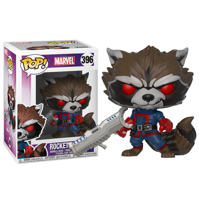 Figurine Marvel Funko POP! Rocket Raccoon Comics Version Exclu