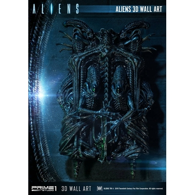 Plaque murale Aliens 3D