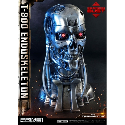 Buste Terminator High Definition T-800 Endoskeleton Head 22cm