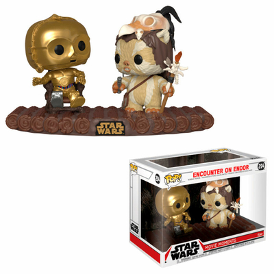 Pack 2 Funko POP! Star Wars Movie Moments Bobble Head C-3PO on Throne 9cm