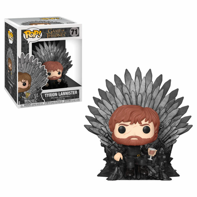 Figurine Game of Thrones Funko POP! Deluxe Tyrion Sitting on Iron Throne 15cm