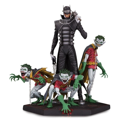 Statuette Dark Nights Metal Deluxe Batman Who Laughs & Robin Minions 21cm