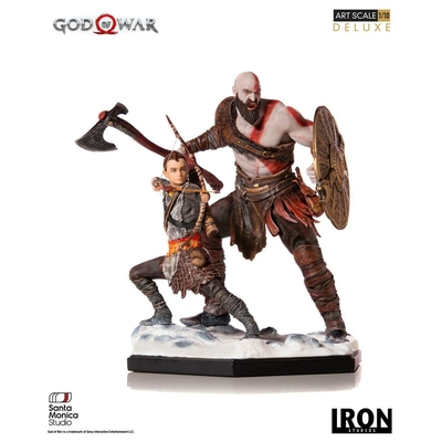Statuette God of War Deluxe Art Scale Kratos & Atreus 20cm
