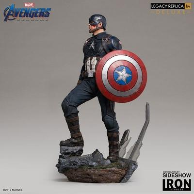 Statuette Avengers Endgame Legacy Replica Captain America Deluxe Version 59cm