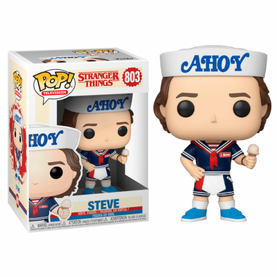Figurine Stranger Things 3 Funko POP! Steve with Hat and Ice Cream 9cm