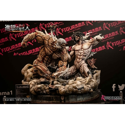 Diorama Attack on Titan Elite Exclusive Eren vs Armored Titan 61cm