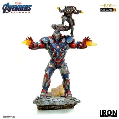 Statuette Avengers Endgame BDS Art Scale Iron Patriot & Rocket 28cm