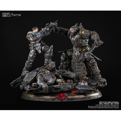 Diorama Gears of War Marcus vs General RAAM Tsume HQS+
