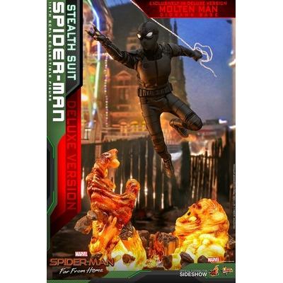 Figurine Spider-Man Far From Home Movie Masterpiece Spider-Man Stealth Suit Deluxe Version 29cm