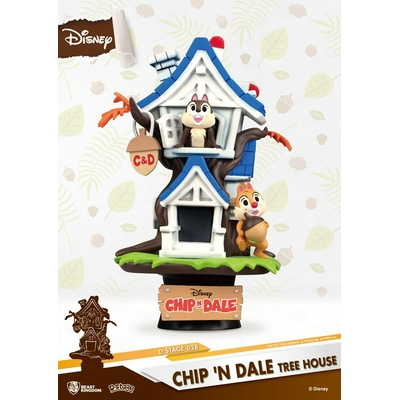 Diorama Disney Summer Series D-Stage Chip 'n Dale Tree House 16cm
