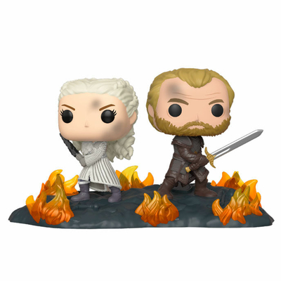 Figurine Game of Thrones pack 2 POP Moment! Daenerys & Jorah 9cm