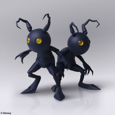 Set 2 figurines Kingdom Hearts III Bring Arts Shadow 10cm