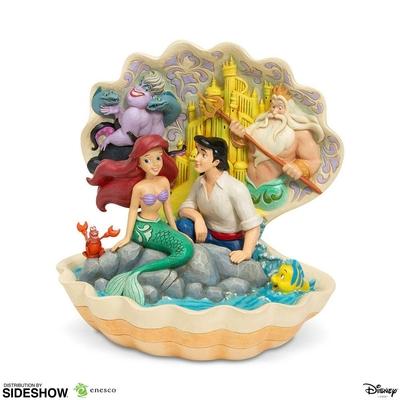 Statuette Disney La Petite Sirène Shell Scene 20cm