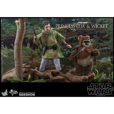 Pack 2 Figurines Star Wars Episode VI Movie Masterpiece Princess Leia & Wicket 15-27cm