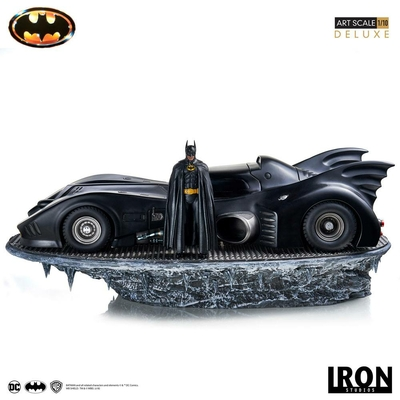 Statuette Batman 1989 Art Scale Deluxe Batman & Batmobile 75cm