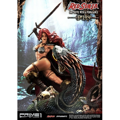 Statue Red Sonja She-Devil with a Vengeance Deluxe Version 79 cm