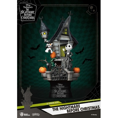 Diorama L´étrange Noël de Mr. Jack D-Stage Jack's Haunted House 15cm
