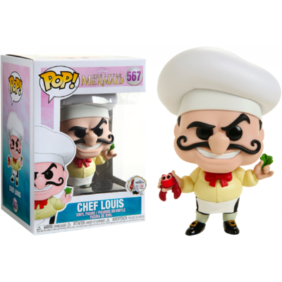 Figurine La Petite Sirène Funko POP! Disney Chef Louis 9cm