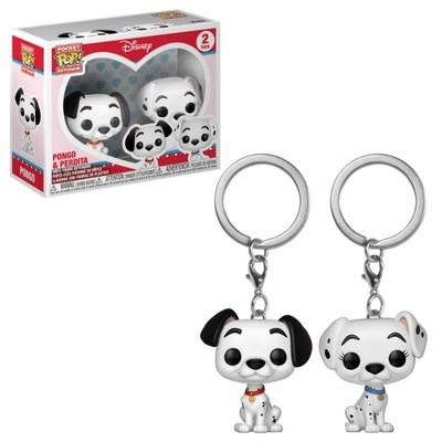 Pack 2 porte-clés Les 101 Dalmatiens Pocket POP! Pongo & Purdy 4cm