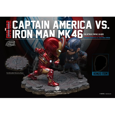 Pack 2 statuettes Captain America Civil War Egg Attack Iron Man vs. Captain America 20cm