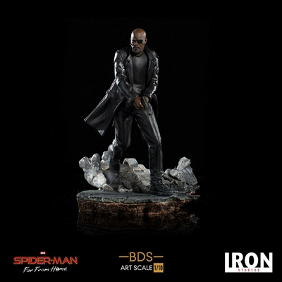 Statuette Spider-Man Far From Home BDS Art Scale Deluxe Nick Fury 20cm