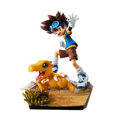 Statuette Digimon Adventure G.E.M. Series Taichi Yagami & Agumon 20th Anniversary 12cm