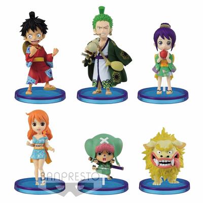 Set de 6 figurines One Piece WCF Wanokuni Vol. 1 ChiBi 7cm