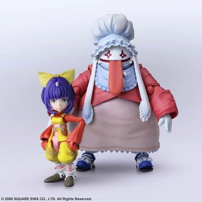 Figurines Final Fantasy IX Bring Arts Eiko Carol & Quina Quen 9 - 14cm