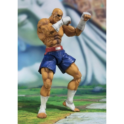 Figurine Street Fighter S.H. Figuarts Sagat Tamashii Web Exclusive 17cm