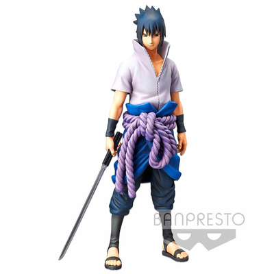 Statuette Naruto Shippuden Grandista nero Uchiha Sasuke 27cm
