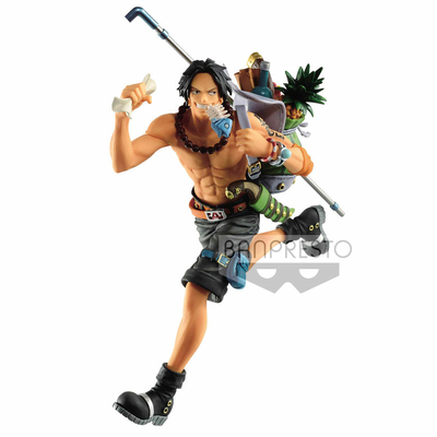 Statuette One Piece Three Brothers Portgas D. Ace 14cm
